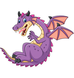 Cartoon dragon isolated on white background vector