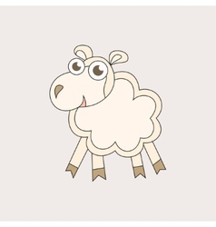 Cartoon sheep character for Christmas and 2015 New vector