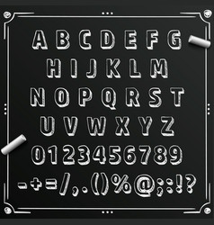 chalkboard sketch font abc sign set letter vector image