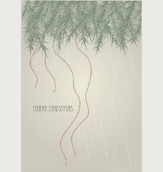 christmas background with inscription vector image