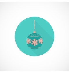 Christmas toy flat icon vector image