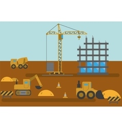 Construction Site Building House vector
