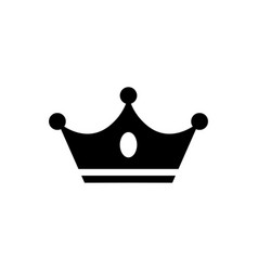 crown icon in flat style black crown icon vector image