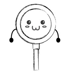 cute lupe kawaii vector image