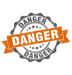 Danger stamp sign seal vector