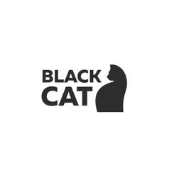 Design kitten logo minimal modern style new flat vector