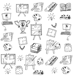 Doodle of Education object art vector