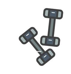 Dumbbell exercise weights gym fitness equipment vector image