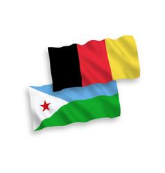 Flags belgium and republic djibouti vector