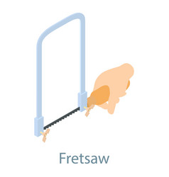 fletsaw icon isometric 3d style vector image