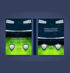Flyer football championship banner book cover vector