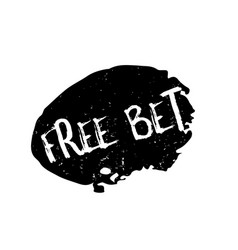 Free bet rubber stamp vector