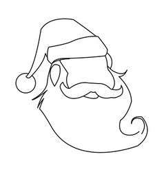 funny face santa claus christmas celebration vector image