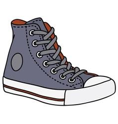 Gray sneaker vector image