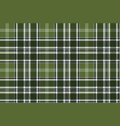 Green checkered plaid seamless fabric texture vector