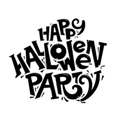 happy halloween party lettering concept logo vector image