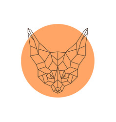 head of fennec geometric head of a wild little vector image