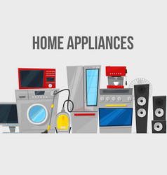 Home appliances and electronics template vector