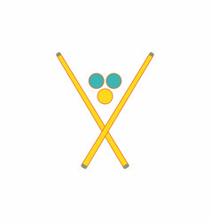 In flat style billiard balls vector