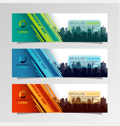 leaflets 3 fold template vector image