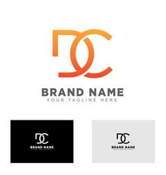 Letter dc logo design template for business brand vector