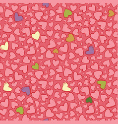 light red heart repeat pattern suitable vector image