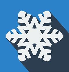 Long shadow snowflake icon vector image