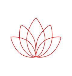 lotus line style icon lotos logo vector image