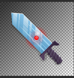 magic broadsword isolated game element vector image