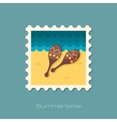 Maracas flat stamp vector
