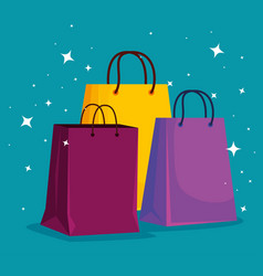 market sale bags to special promo vector image