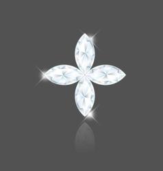 Marquise diamond vector