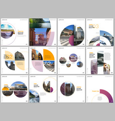 minimal brochure templates with colorful circles vector image