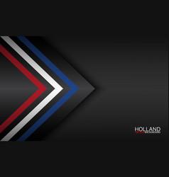 Modern colorful arrows with dutch colors and grey vector