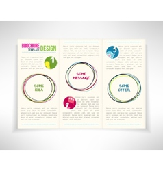 Modern three fold brochure leaflet flyer design vector image