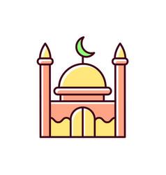 Mosque rgb color icon vector