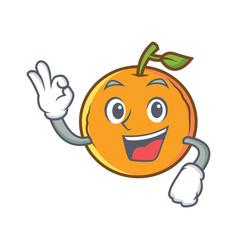 Okay orange fruit cartoon character vector