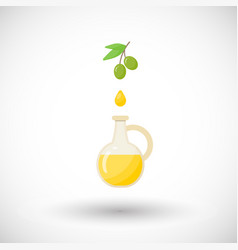 olive oil flat icon vector image