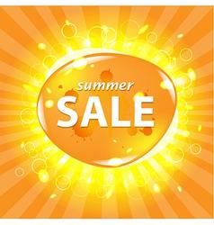 Orange Summer Sale Poster vector image