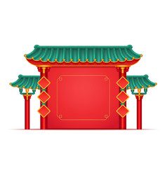 pagoda china japan temple with columns copy space vector image
