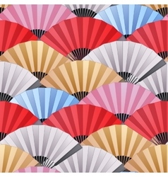 Pattern of fans vector