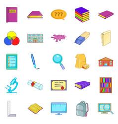 Perception icons set cartoon style vector