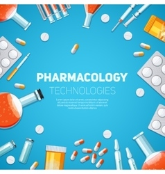 Pharmacology technologies vector image