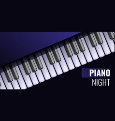 Piano night concept banner cartoon style vector