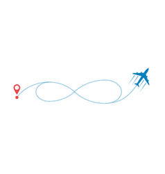 plane and path vector image
