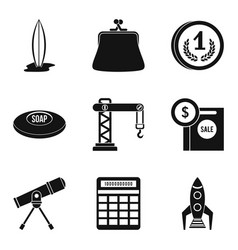 Poise icons set simple style vector