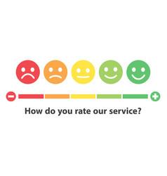 Rating satisfaction feedback in form emotions vector