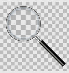 realistic magnifying glass isolated on transparent vector image