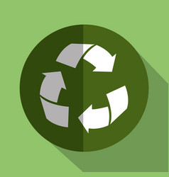Recycle arrows symbol isolated icon vector
