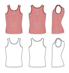 Red-white striped vest vector